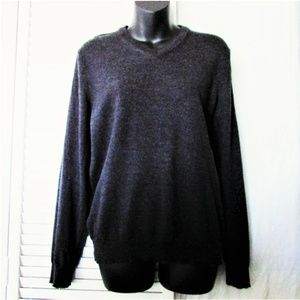 Calvin Klein CK charcoal gray wool sweater M